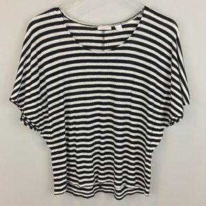Chico's Top 1 Shirt Striped Linen Blend Blouse EUC